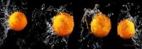 Кухонный фартук Апельсины  на черном