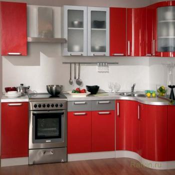 Кухня Трапеза Классика угловая 1230х2100 с гнутыми фасадами