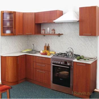 Кухня Престиж 1230x1785 с гнутыми фасадами