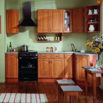 Кухня угловая Трапеза Классика 1200х2100