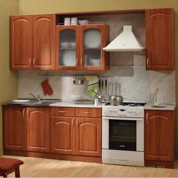 Кухня Трапеза Классика 2600 с карнизной полкой