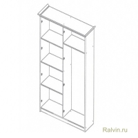 Шкаф К3Ш1/4 Карина-3 4-х двер. (2 зеркала)
