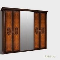 Шкаф К2Ш1/6 Карина-2 6-ти двер. (2 зеркала)