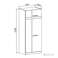 Шкаф Линвуд-4018 для стенки Линвуд-4017