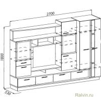 Стенка Линвуд-4016 (Эрика-9)