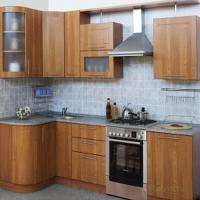 Кухня угловая 1230х2700 с гнутыми фасадами